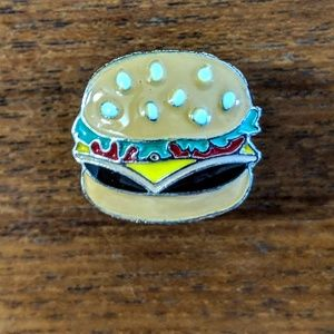 Accessories - Hamburger Metal Enamel Pin Badge NWOT